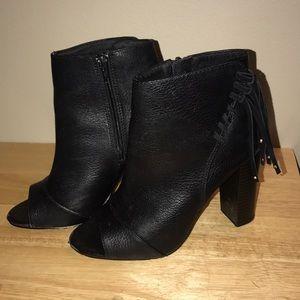 Open toed bootie heels